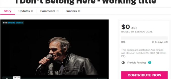 I DON'T BELONG HERE lança plataforma de Crowdfunding